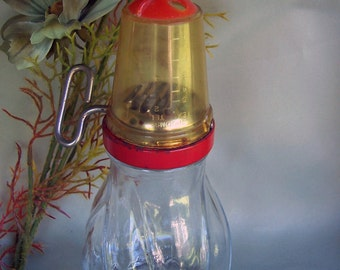 ADDITIONAL 10% OFF...SALE  Vintage Food Mill Nut Grinder with Measuring Cap Great Shape