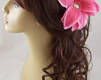 Pink Tiger Lily Hair Stick Set