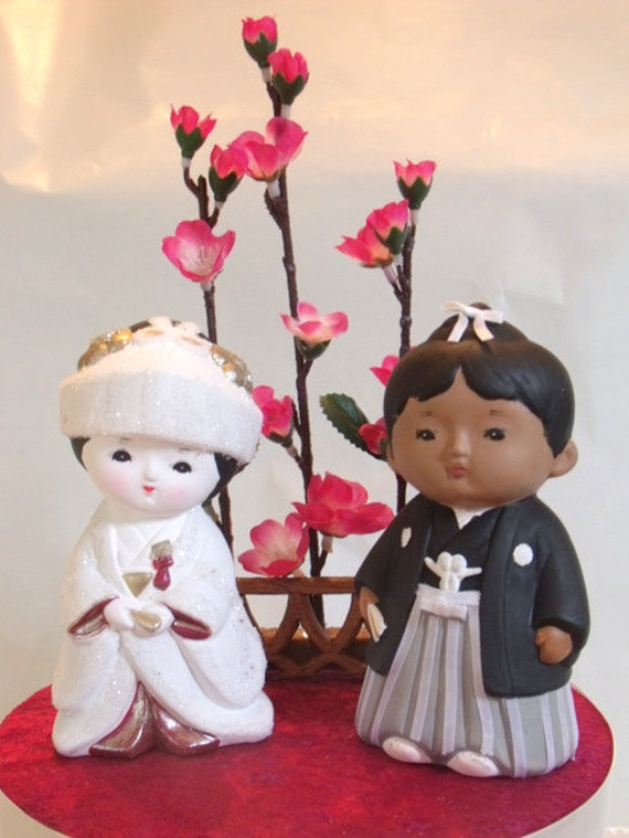japanese wedding cake toppers items similar to traditional japanese wedding cake topper 16588