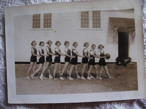 Girls Basketball Team... 1930s Vintage Snapshot