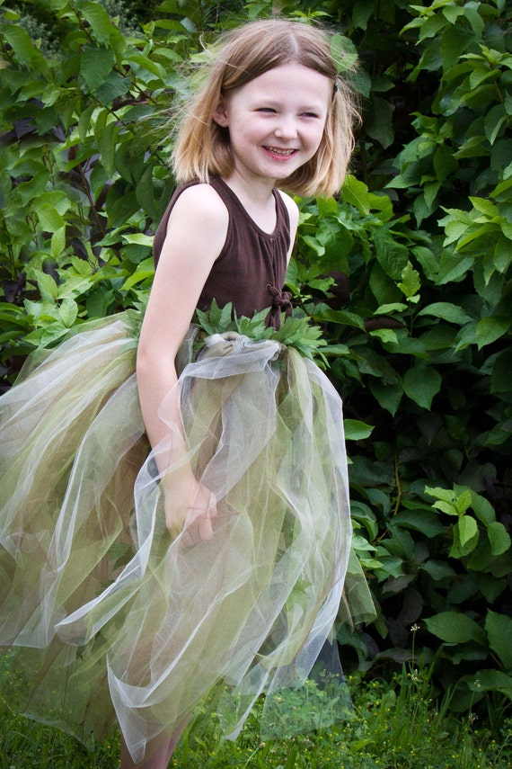 Custom Woodland Fairy Skirt, Tutu, Costume
