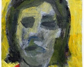 Original Painting - 'Girl Looking' by Peter Mack