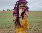 Purple feather headpiece - rougepony