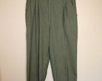 Yellow, Green and Blue Tartan Pants