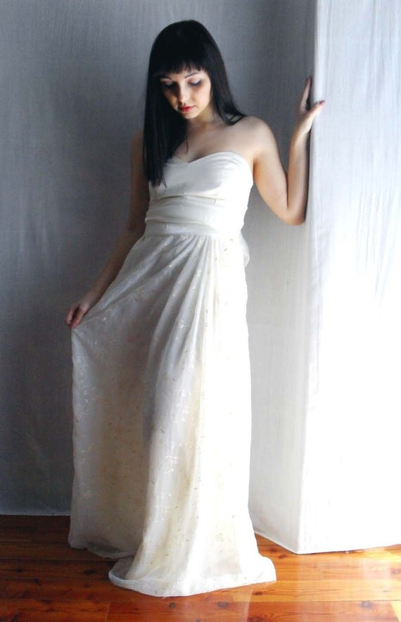 Long wedding dress, Romantic wedding gown, hippie wedding dress, fairy wedding dress, bohemian wedding dress, lace wedding dress