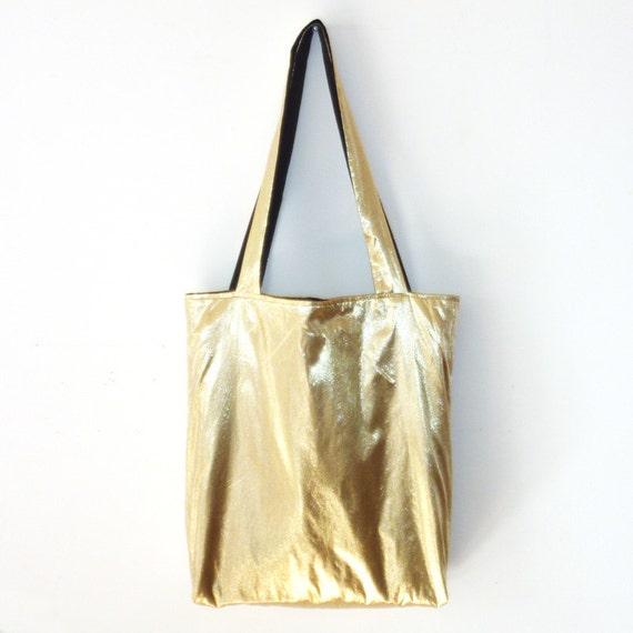 Metallic Gold Tote Bag