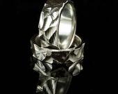 Chisel Texture Wedding Rings, Set of 2 Rustic Wedding Bands, Rustic Wedding Bands, Mens Wedding Ring, Unisex Bands, Matching Wedding Set