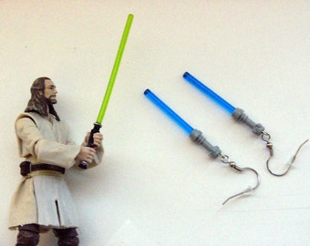 Lightsaber Earrings Jedi (Dark Blue)