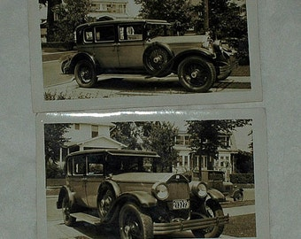 Vintage 2 CAR PHOTOGRAPH POSTCARDS and a Coup, Ca 1920s, Mint Condition, - Free Shipping !