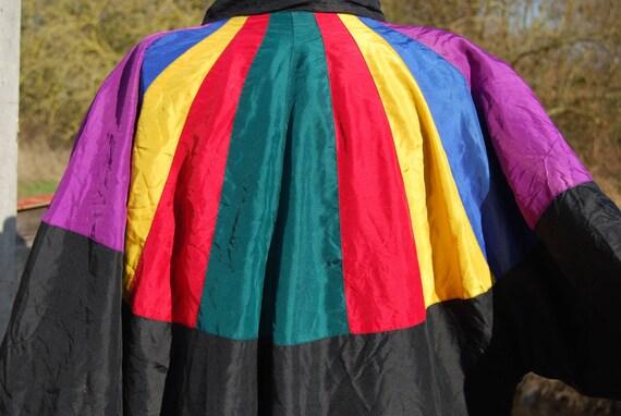 Windbreaker - Silk - Bomber jacket - Colour Block - Retro - Sporty - 1990s - Parachute -Coat