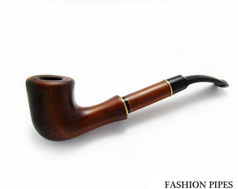 """Collection Long Tobacco Pipe Smoking Pipe. Wooden Pipe Handcrafted """"TEAHOUSE"""" Wood Pipe Fits 9mm filters - Best Price in FPS"""