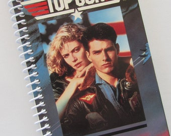 TOP GUN Notebook Journal upcycled spiral notebook Movie Tom Cruise