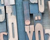 Paris Photography - Letterpress Type at Paris Flea Market, Fine Art Photograph, Vintage Style, Wall Decor