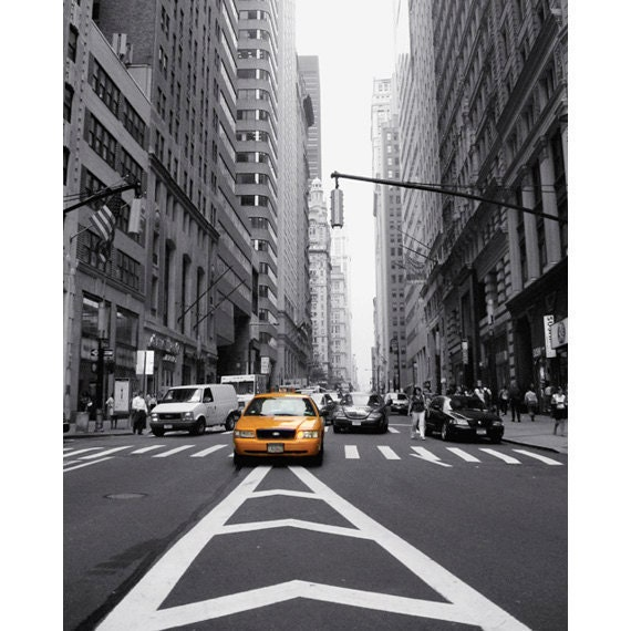 Yellow Cab Photo New York City NYC Taxi Photo Financial