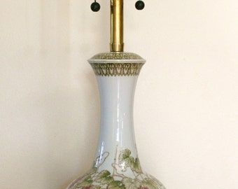Handpainted Grapevine Italian Pottery Ceramic Marbro Lamp