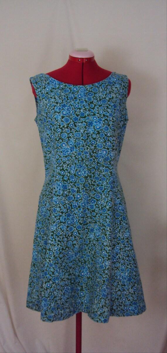 Summer Picnic Sun Dress 1960s M/L