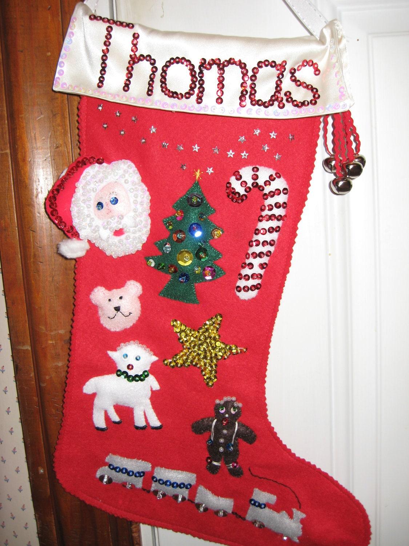 handmade felt stockings with beaded decorations. Black Bedroom Furniture Sets. Home Design Ideas