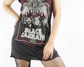 BLACK SABBATH The Heavy Metal Black T-Shirt Women T-Shirt Tank Top Women Sleeveless Tunic Singlet Vest Indie T-Shirt Rock T-Shirt Size L
