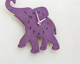 "The ""Baby Grape Elephant"" designer wall mounted clock from LeLuni"