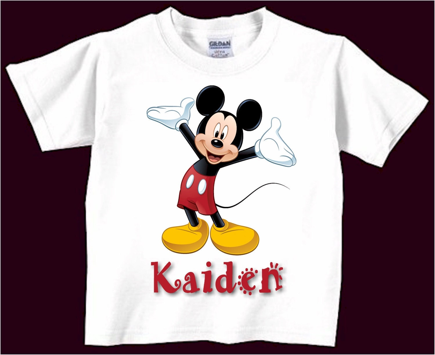 Personalized Mickey Mouse T Shirt Infant Todler T By