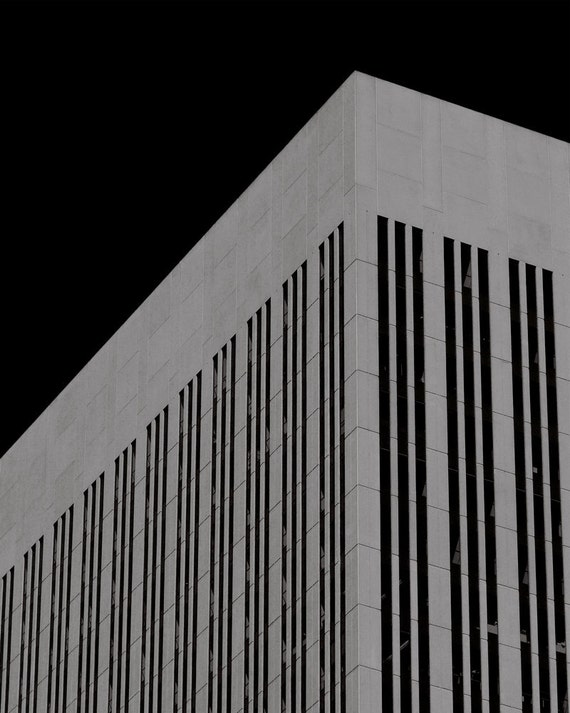 Billennium - Abstract Architecture, Black and White Decor, Surreal Street Photography, City and Buildings, Industrial Structure