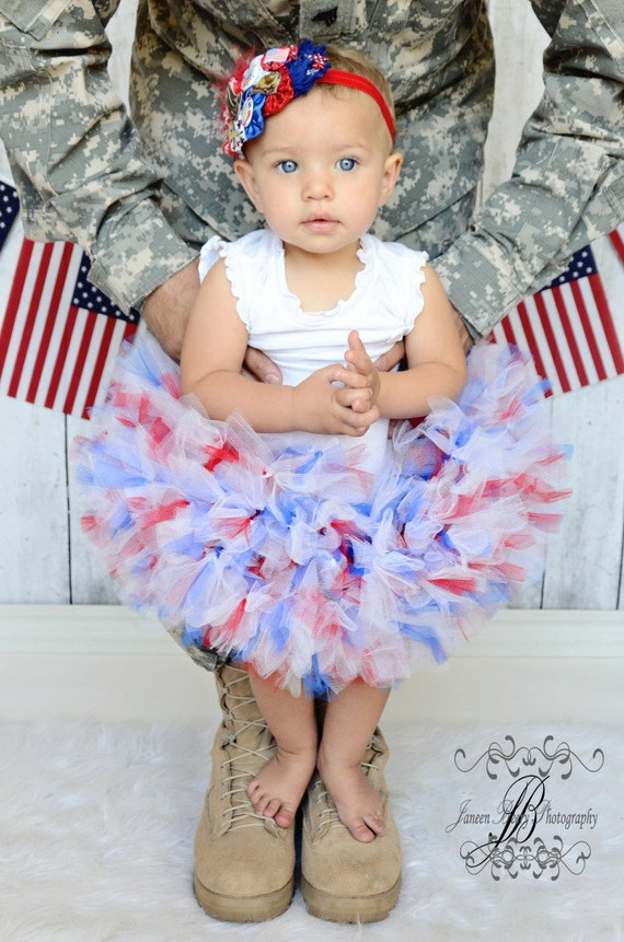 Red White Blue Petti Tutu dress -INDEPENDENCE DAY american girl 4th of July
