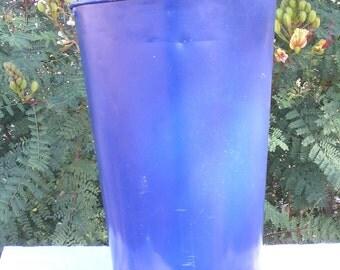 Antique Vintage Maple Sap Bucket - Blue