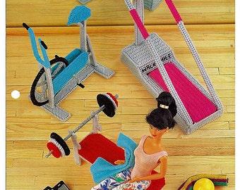Fitness Fun: Annie's Fashion Doll Plastic Canvas Club Barbie Furniture Pattern FP04-04