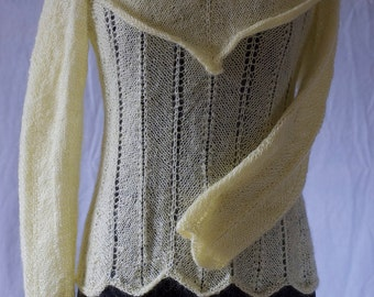 Yellow mohair sweater