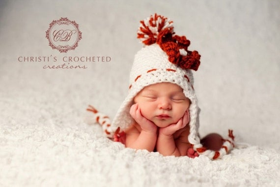 Red and White Hat- Peppermint- Newborn- Photography Prop- Baby Girl- New Baby- Accessories