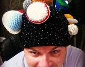 Solar System hat for child to adult PDF crochet pattern-INSTANT DOWNLOAD