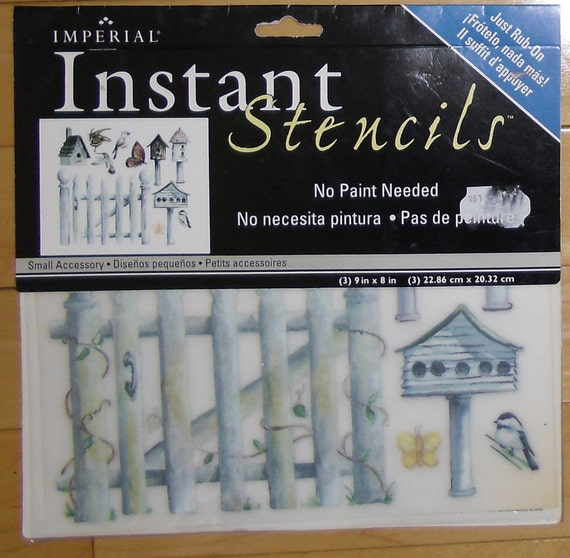 Stencils instant rub on birdfeeders by imperial home decor for Imperial home decor