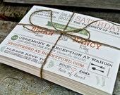 Wedding Invitation: Rustic and Modern Garden invitation