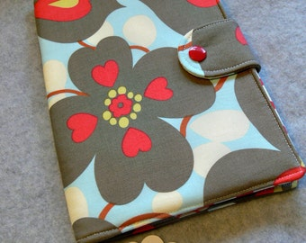 Kindle Fire cover, Nexus 7, Nook, eReader Cover, Book Style, Amy Butler  Lotus morning glory  ..Made to order