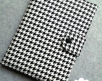 Standable Kindle Fire HD 7 iPad Mini Kindle Paperwhite Nook Glowlight Nook HD Black and White Houndstooth