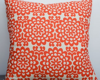 Coral Pillow  with lotus flower winter trend, december find, for her