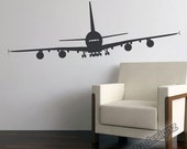 Airplane Wall Decals - Airbus A380 - Aviation Wall Decor - Jumbo Jetliner Vinyl Wall Decal - 15x48