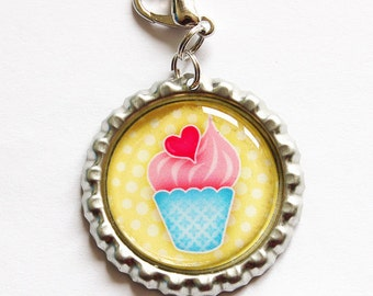 Ice Cream zipper pull, backpack zipper pull, zipper pull, purse charm, Ice Cream (908)