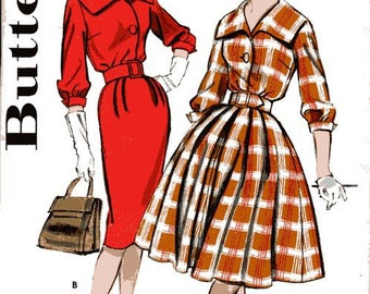 Butterick 9499 sewing pattern // shirtdress with wide collar