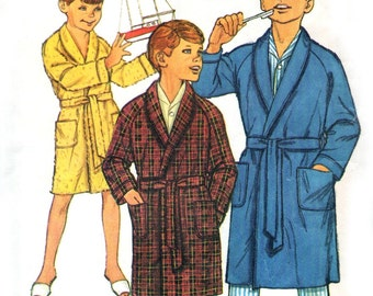 1960s Simplicity 6767 sewing pattern // Boys' Robe size 4