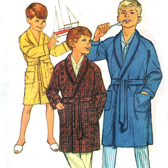 1960s Simplicity 6767 sewing pattern // Boys' Robe size 12