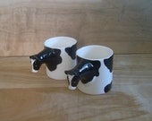 RESERVED Vintage Bergschrund Seattle Cow Cups, Set of 2