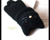 Little black cat / kitten wrist rest with safety eyes and nose for using with a mouse (2nd edition)