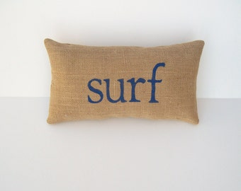 nautical decor, surf decor, surf pillow, blue accent pillow, beach house decor, surf, nautical nursery by whimsysweetwhimsy