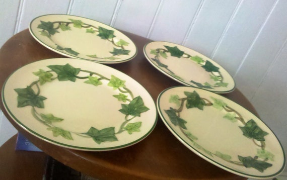 Franciscan Ivy Bread and Butter Plates / Mid Century / Set of Four /
