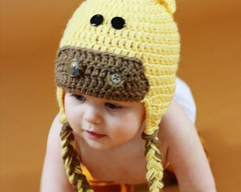 Crochet Giraffe Hat for Baby to Adult, Animal Hat, Made to Order