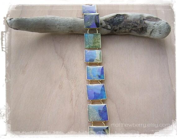 Handmade Paper Bracelet - Paper Resin Bracelet