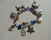 Sandy CHARM Bracelet, Stretchy, fun for beach or nautical outing!