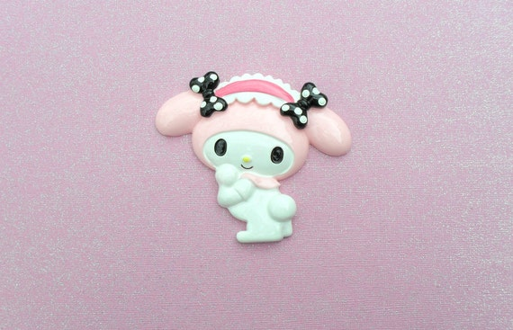 SALE 1 pc Light Pink Cute Melody Bunny Cabochon