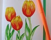 3 Tulips Greeting Card